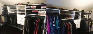Before and After: From messy closet to organized
